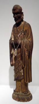 Wood figure of a Luohan