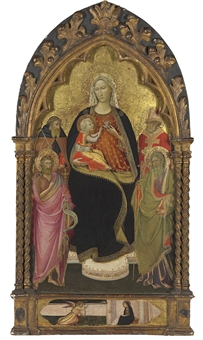 """Madonna and Child with saints"" by Giovanni dal Ponte"