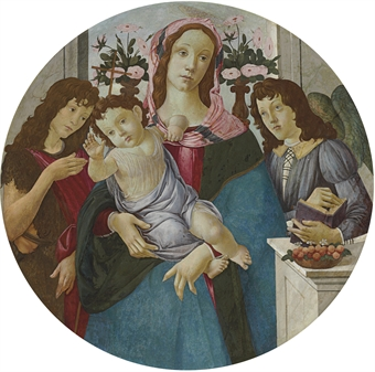 """Madonna and Child with Two Angels"" by Studio of Botticelli"