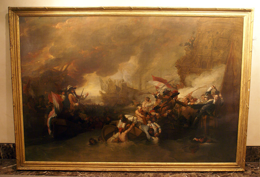 """Battle of La Hogue"" by West and Trumbull"