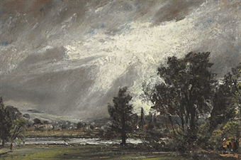 """A View of Salisbury"" by Constable"