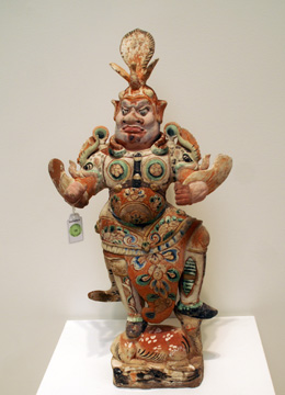 Tang pottery figure of a lokapala