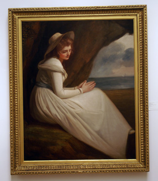 """Emma Hart, Later Lady Hamilton, as 'Absence'"" by Romney"