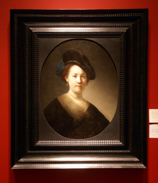 """Portrait of a Young Woman with a Black Cap"" by Rembrandt"