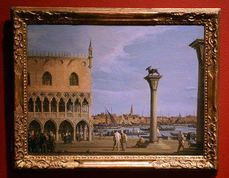 """The Piazetta, Venice"" by Canaletto"