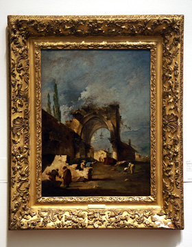 """A Capriccioof Buildings with Figures by a Ruined Arch"" by Guardi"