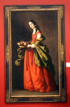 """Saint Dorothy"" by Zurbaran"