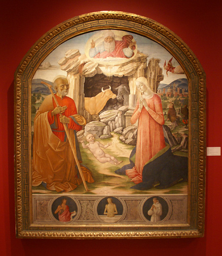 """TheNativity"" by Benevuto di Giovanni and Girolamo di Benevuto"