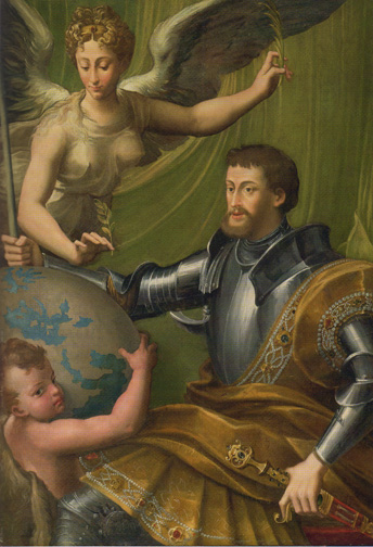 """The Emperor Charles V Receiving The World"" by Parmigianino"