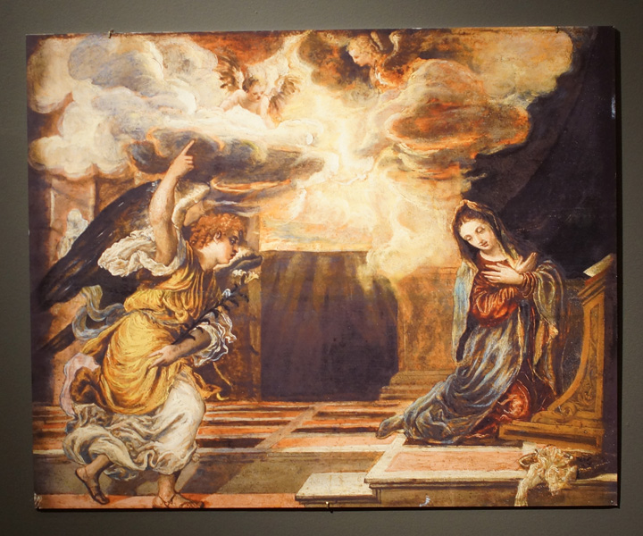 Lot 44 The Annunciation By El Greco Oil On Panel 25 30 Inches