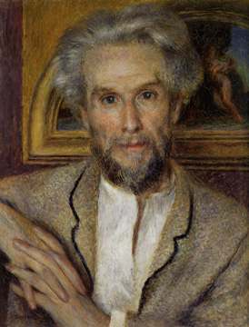 """Portrait of Victor Chocquet"" by Renoir"