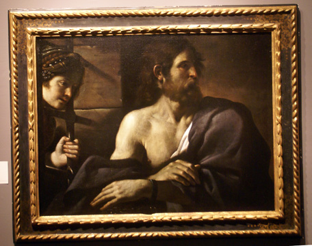 """Saint John the Baptist in Prison Visited by Salome"" by Guercino"