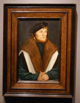 """Portrait of a bearded young man"" by Cranach"