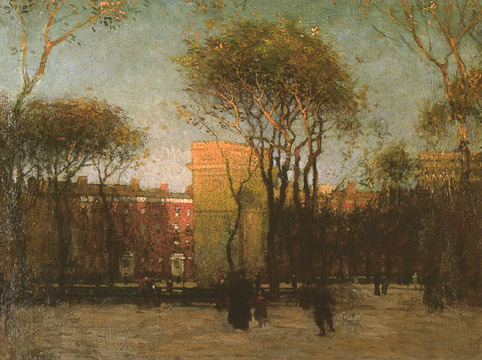"""Washington Square"" by Paul Cornoyer"
