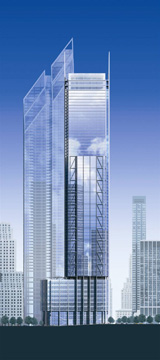 Rendering of south side of Tower 3