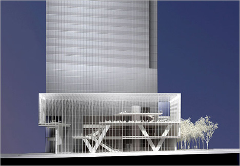 Model of base of Tower 4