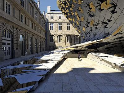 Rendering of Louvre expansion