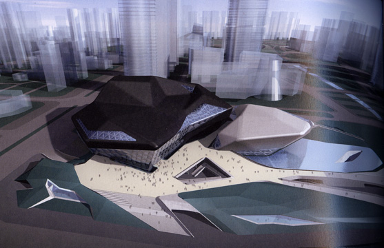 Rendering of proposed Guangzhou Opera House